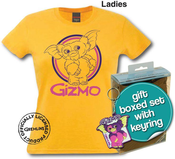 Lot spécial Gremlins - T-shirt Femme + porte-clés Gizmo