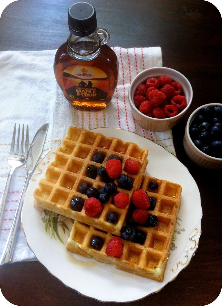 Belgian Waffles (with Maple Syrup) | Joanna Bread Blog | Pinterest