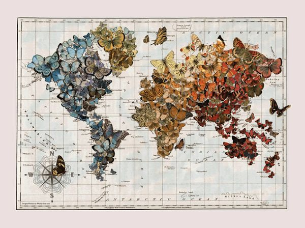 211 best Map Art images on Pinterest Map crafts, Arts \ crafts and - fresh wendy gold world map