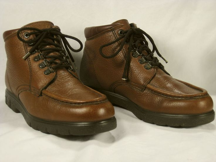 "Mens Red Wing Boots 8.5 Brown Moc Toe 6"" Boot Lace Ankle Non Marking Soles Shoes #RedWing #AnkleBoots"