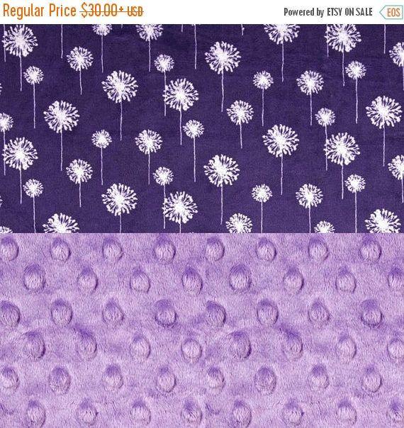 SALE Purple Flower Minky Blanket Girl Lilac by Sewingdreamsnotions - Purple Nursery Theme