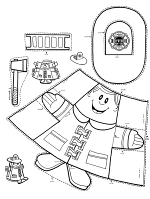 Paper cup fireman puppet by april