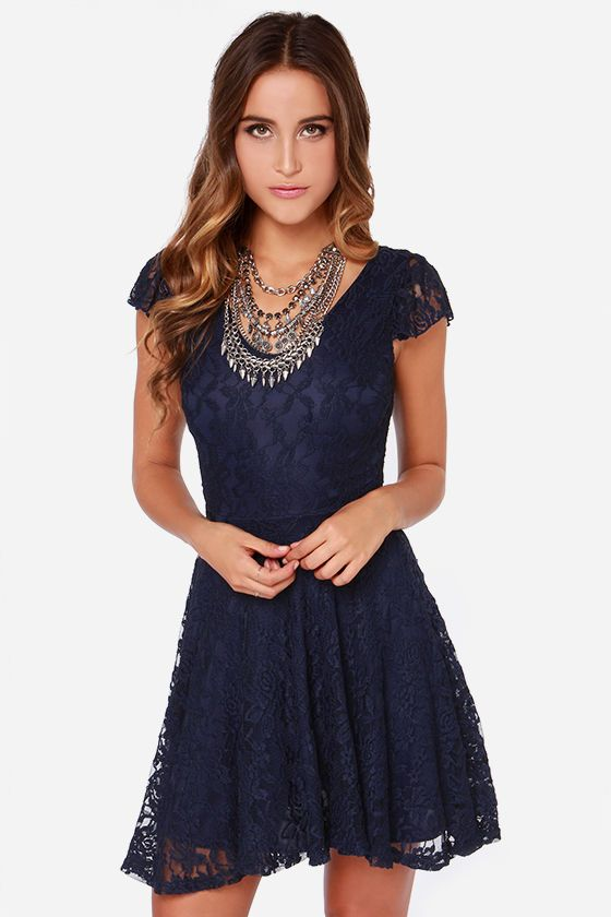 LULUS Exclusive Made to Love Navy Blue Lace Dress at Lulus ... - photo #3