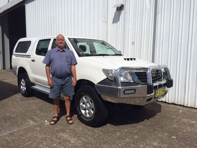 Trevor picked up his 2012 model Hilux today. Thanks for visiting Motor Vehicle Wholesale.