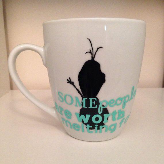 Frozen Olaf Mug by Cafe47 on Etsy, $10.00