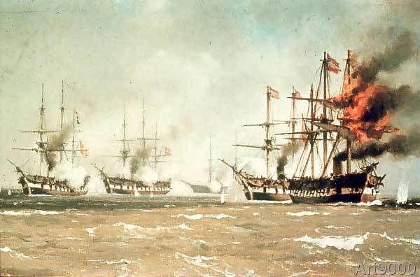 Johan Carl Neumann - The Sea battle near Helgoland