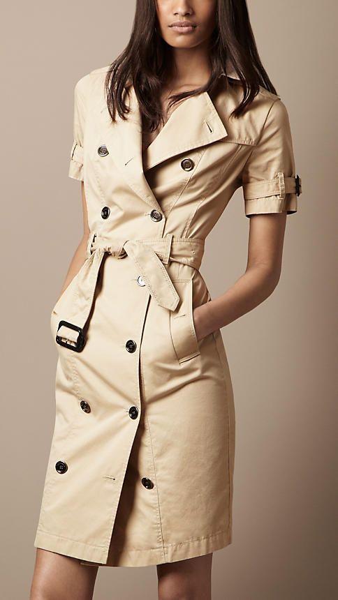 Burberry Brit Cotton Gabardine Trench Dress