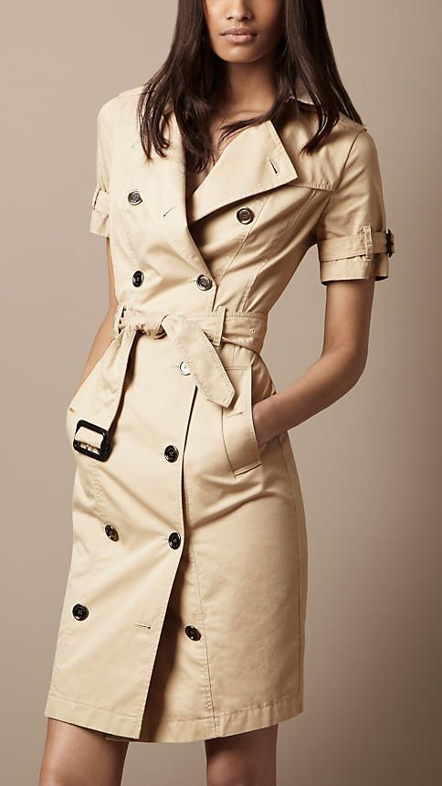 Cotton Gabardine Trench Dress | Burberry