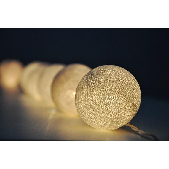Cotton Ball Lights - Set of 2