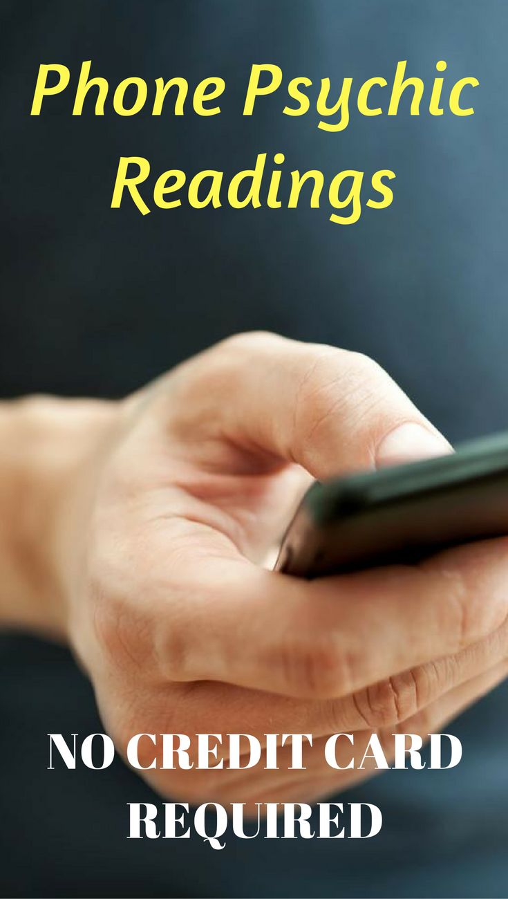 Psychic reading questions over the phone. No credit card required.