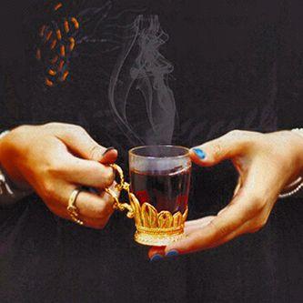 لشرب الشاي. I drink tea