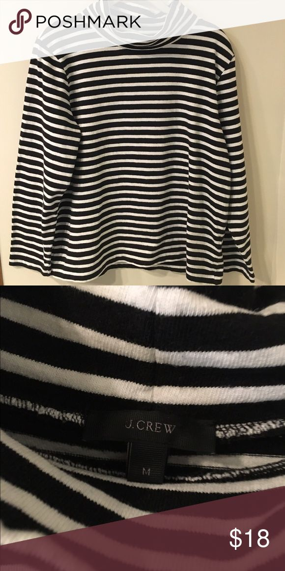 J.Crew black and white sweater top Black and white turtle neck top size: m great everyday comfy top! Good condition J. Crew Tops Sweatshirts & Hoodies