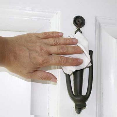 Apply a thin coat of car wax to brass door knockers, mailboxes, and other outdoor fixtures to keep them from tarnishing.   Photo: Nancy Andrews   thisoldhouse.com