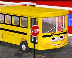 Cute Cartoon School Bus - Back to School Jigsaw Puzzle for kids to play online!