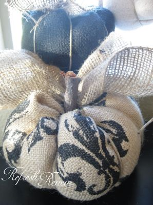 Fall Project-Burlap Pumpkin Tutorial