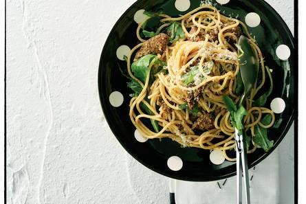 Spaghetti met biefstuk en rucola - Recept - Allerhande - Albert Heijn