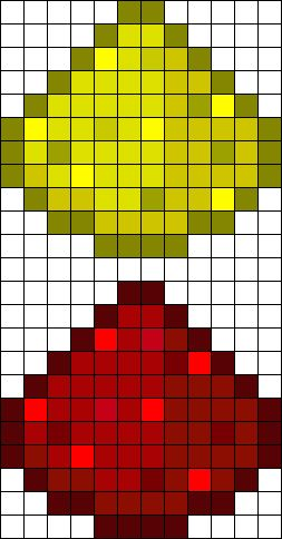 Minecraft 1 Perler Bead Pattern | Bead Sprites | Misc Fuse Bead Patterns