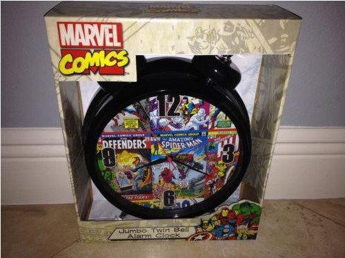 Despertador vintage com estampa de herois da Marvel