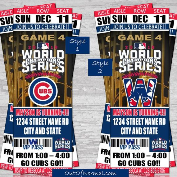 World Series Champion Chicago Cubs Themed Birthday by OutOfNormal