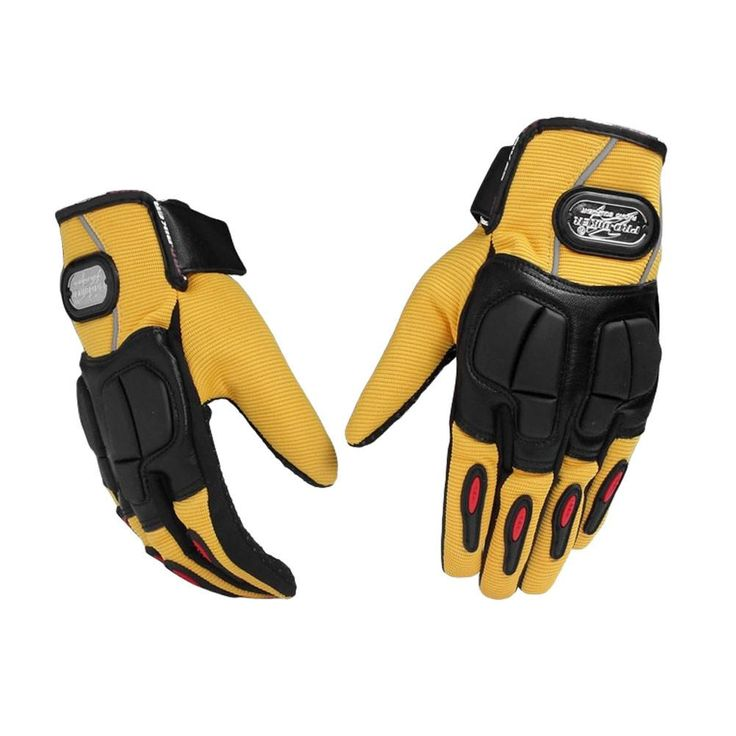 Motorcycle Racing Riding Protective Gloves Bicycle Riding Pro Gloves, Yellow, M