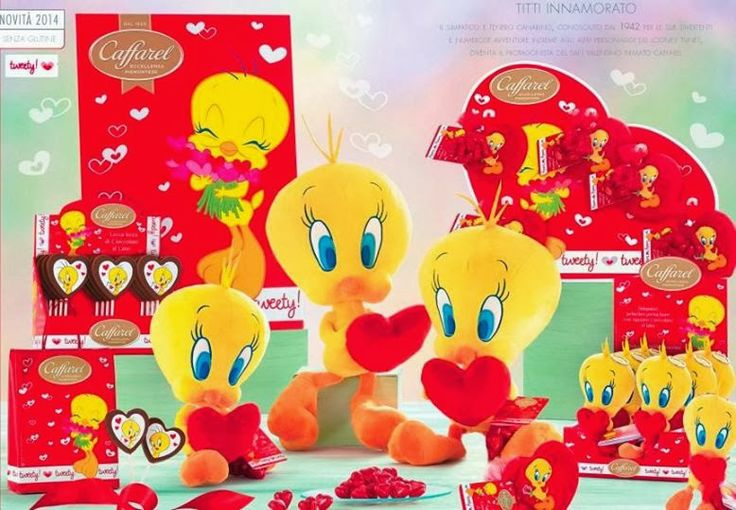 #Chocolate #ValentinesDay #Caffarel #Tweety #Heart #IdeeRegalo per la #FestadegliInnamorati From Glob-Arts