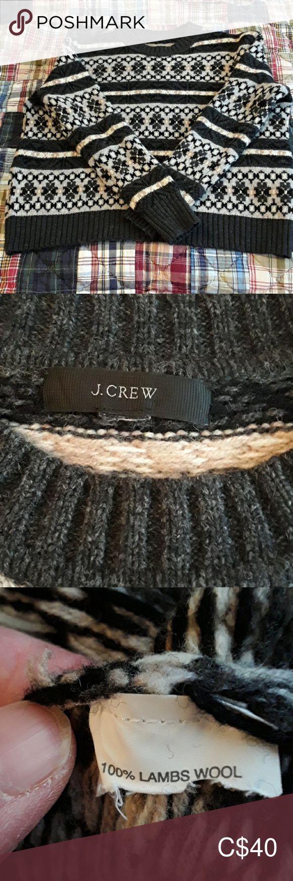 J Crew fair isle sweater Size L EUC! Beautiful J Crew sweater. Size tag missing,... 1