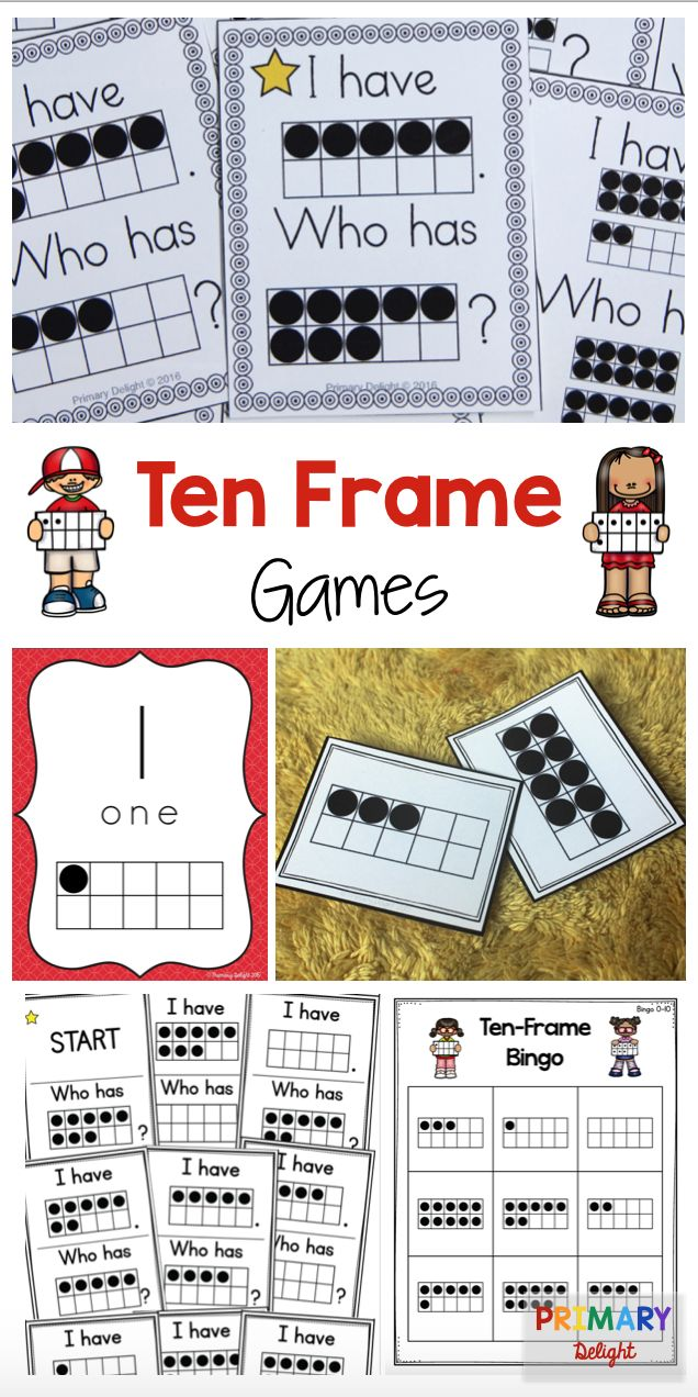 Ten frame games and activities for early math; perfect for preschool, kindergarten and 1st grade