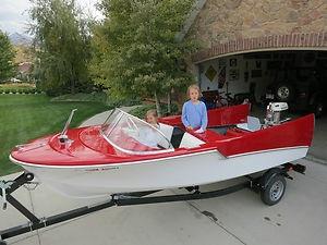 1959 Bell Boy Banshee Vintage Boat Not Wood Fiberglass 50Hp Mercury Motor for sale on ebay