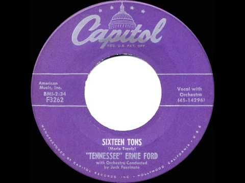 1955 HITS ARCHIVE: *Sixteen Tons* - Tennessee Ernie Ford (a #1 record) - YouTube