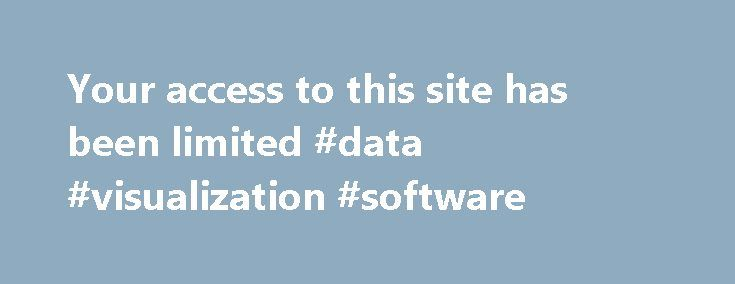 Your access to this site has been limited #data #visualization #software http://austin.remmont.com/your-access-to-this-site-has-been-limited-data-visualization-software/  # Your access to this site has been limited Your access to this service has been temporarily limited. Please try again in a few minutes. (HTTP response code 503) Reason: Access from your area has been temporarily limited for security reasons. Important note for site admins: If you are the administrator of this website note…