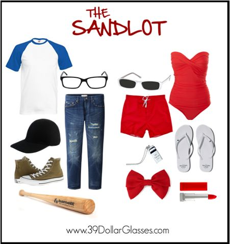 FOR-EV-ER! Dress up as Squints and Wendy Peffercorn from The Sandlot this Halloween! Featuring Clark Eyeglasses and Destiny Sunglasses from 39DollarGlasses.com.