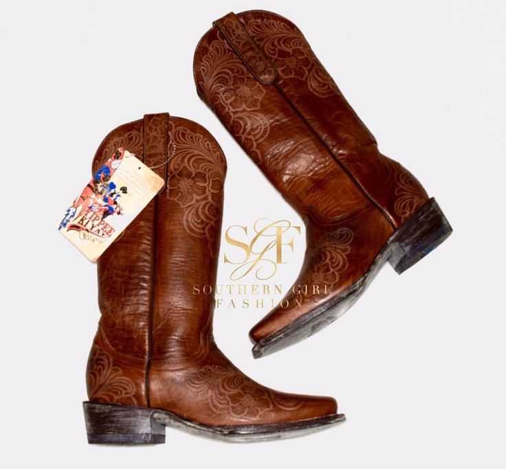 "OLD GRINGO $270 ""Floral Boots Elsa Cowgirl Embroidered Cowboy Shoes"" - Size 5.5 #OldGringo #CowboyWestern #Casual"