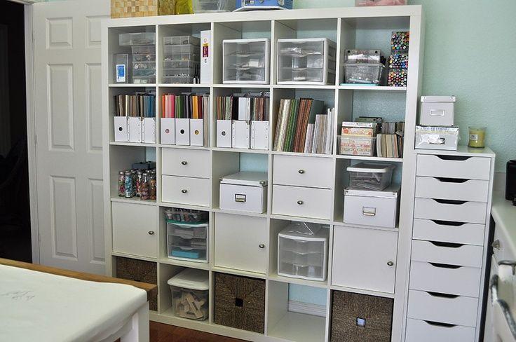 craft rooms ikea | craft room ikea shelf, still need to organize ... | Scrapbook room