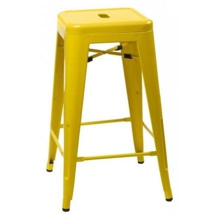 Barová židle Tolix 66, žlutá