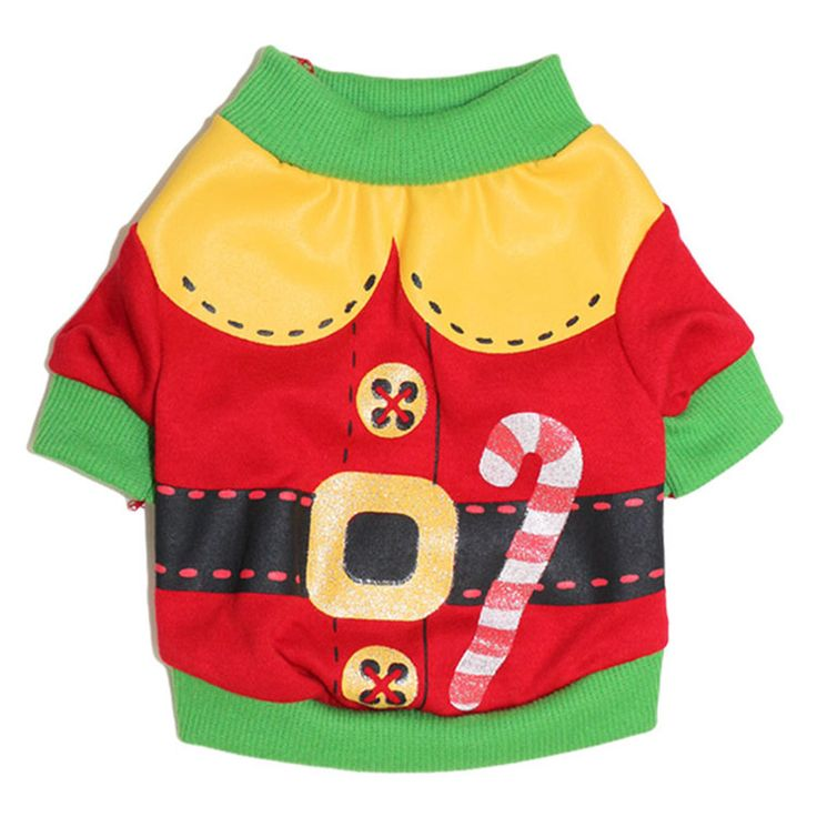 Christmas Puppy Outfit for Small Dog Hoodie Dog Clothes Pet Coat Santa Dog Costume Funny Pet Clothing Chihuahua Clothes 8D2 #ChristmasOutfit