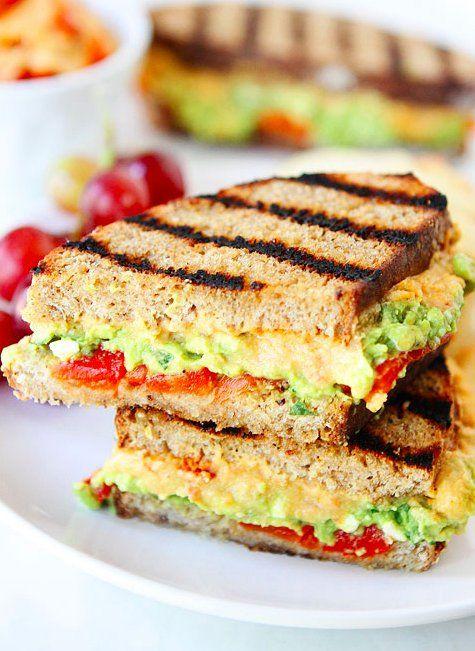 13 Hummus Sandwiches Thatll Solve All Your LRoasted Red Pepper Hummus, Avocado, & Feta Sandwich - HUFFINGTON POST