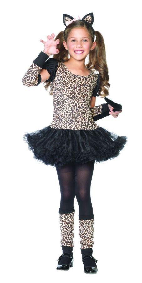 girl cat halloween costumes little leopard costume girls cat costumes funtober halloween cat costume kidscheap - Kids Cheap Halloween Costumes