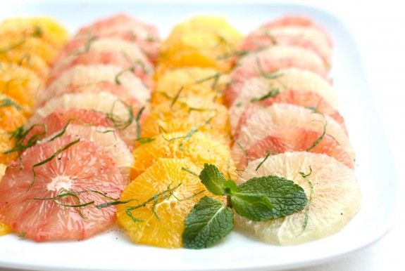 Recipe: Citrus & Pomegranate Salad with Rose Water-Vanilla Syrup