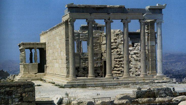 Esempio di tempio prostilo: Eretteo; V secolo a.C.; Acropoli di Atene.