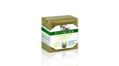 Handmade Traditional Olive oil Soap with Aloe Vera by Olivaloe