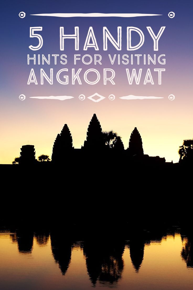 5 handy hints for visiting Angkor Wat, the largest religious monument in the world. #angkor #cambodia #bucketlist #travel