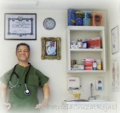Detalle cuadro medico cirujano, personalizado
