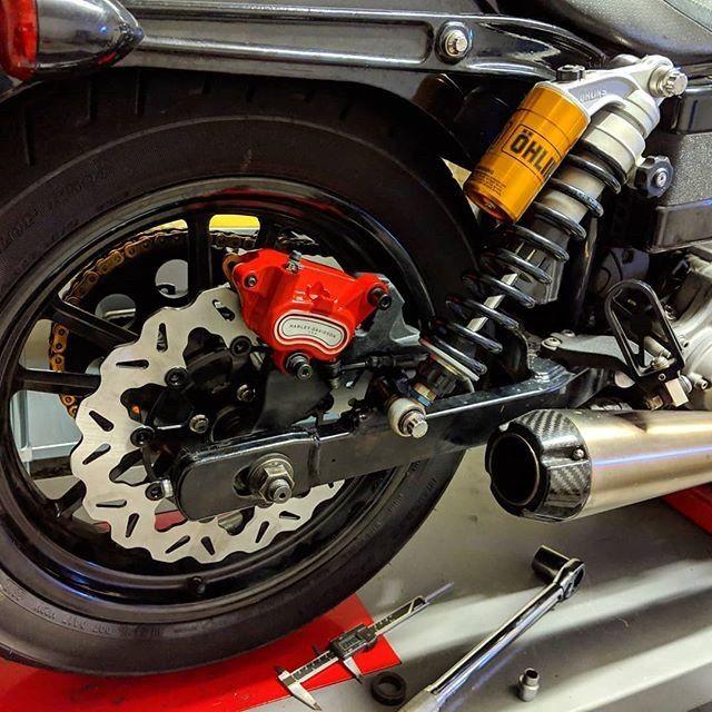cse 07 => 08 rear brake conversion    had to machine new