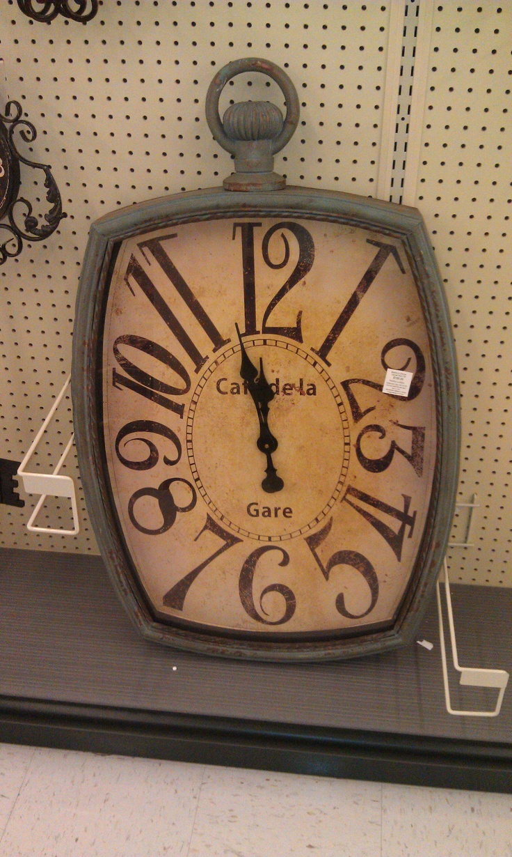 love this large clock - found it at Hobby Lobby
