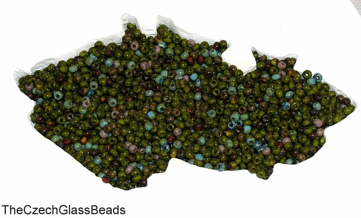 5g CZECH SEED BEADS 1cut 10/0 swamp mix 337. by TheCzechGlassBeads on Etsy