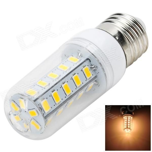 Color: White + Yellow + Multi-Colored; Color BIN: Warm White; Brand: Marsing; Model: L14; Material: Aluminum; Quantity: 1 Piece; Power: 6W; Rated Voltage: AC 220-240 V; Connector Type: E27; Chip Brand: Epistar; Chip Type: LED; Emitter Type: Others,5730 SMD LED; Total Emitters: 36; Actual Lumens: 500-600 lumens; Color Temperature: Others,3000-3500K; Dimmable: no; Beam Angle: 120 °; Certification: CE; Packing List: 1 x LED bulb; http://j.mp/1titlon