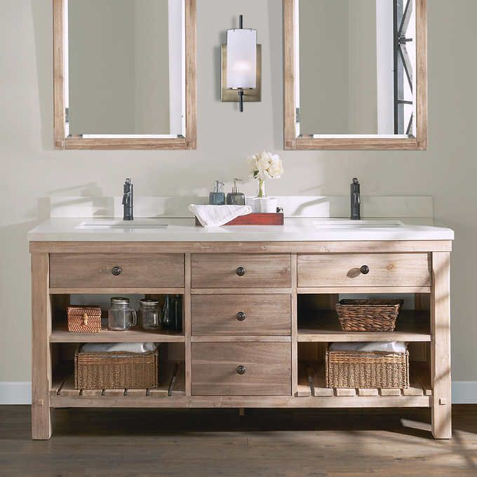 Elbe Rustic 72 Double Sink Vanity By Northridge Home Double