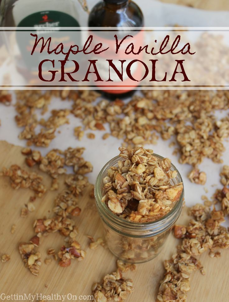 This is the BEST crunchy granola recipe. With flavors like vanilla and cinnamon combined with the natural sugar of maple syrup, this makes for the perfect addition to breakfast or to enjoy as a snack.