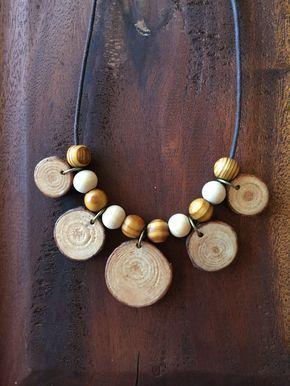 Collar anillo de árbol de madera madera joyería de por urbanrustle