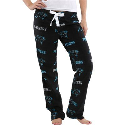 Carolina Panthers Ladies Highlight Microfleece Pants - Black